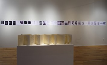 "Installation view of  Photo Gallery and Carlos Oquendo de Amat's ""Five meters of Poems."", Cecilia De Torres Ltd."