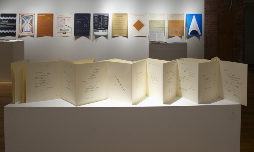Installation view of Carlos Oquendo de Amat's 5 Metros de Poemas (Five Meters of Poems), Cecilia De Torres Ltd.