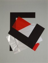 Red, Black and Silver on Gray - Inés Bancalari, Cecilia De Torres Ltd.