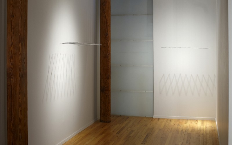 Installation view of Elias Crespin's Kinetic Sculptures, Cecilia De Torres Ltd.