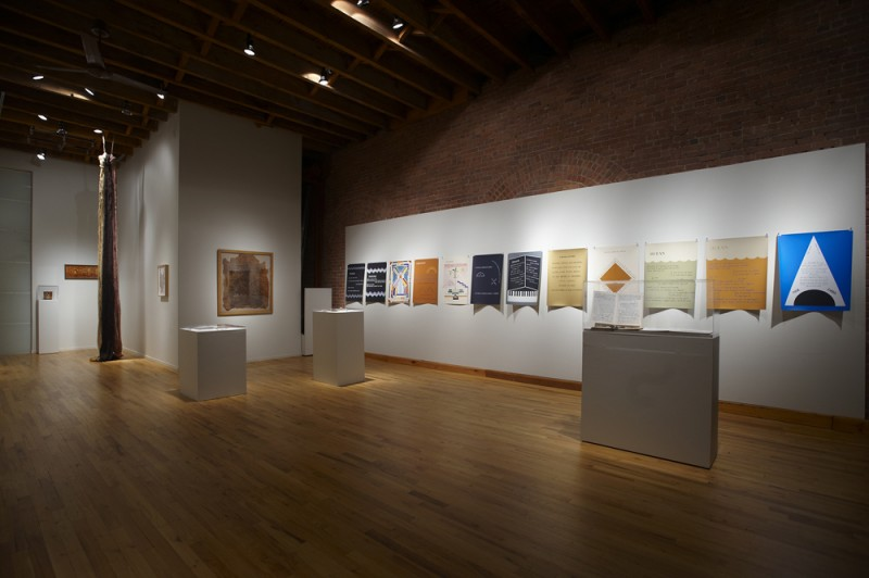 Installation view of Vicente Huidobro's Poemas Pintados, Cecilia De Torres Ltd.
