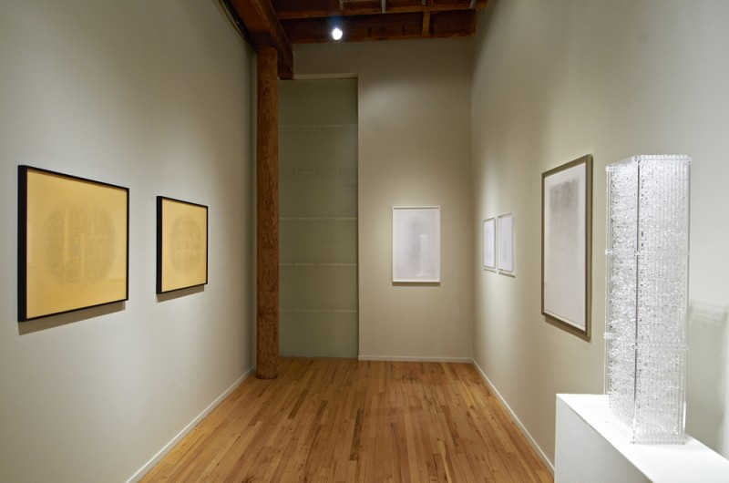 Installation view of Gustavo Díaz's work, Cecilia De Torres Ltd.