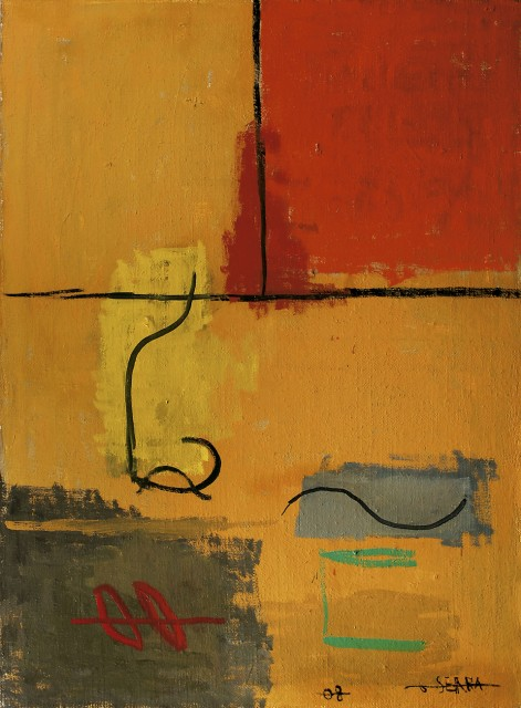 Figures in ocre, red and grey - Gustavo Serra, Cecilia De Torres Ltd.