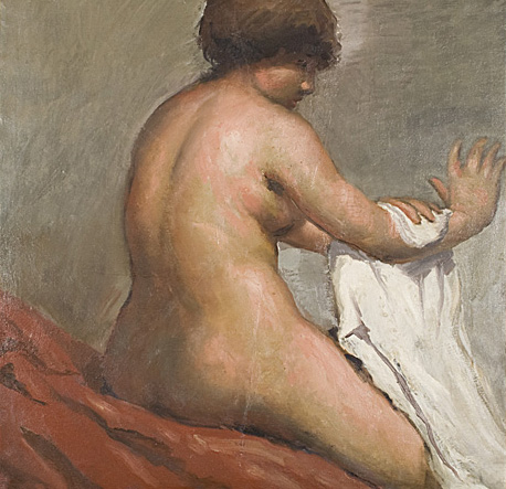 Seated nude (drying) - Horacio Torres, Cecilia De Torres Ltd.