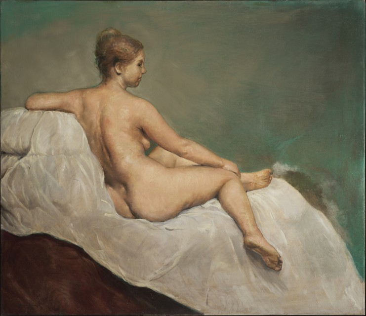 Seated Nude on Green - , Cecilia de Torres, Ltd.