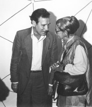 Gerd Leufert and Gego at her exhibition