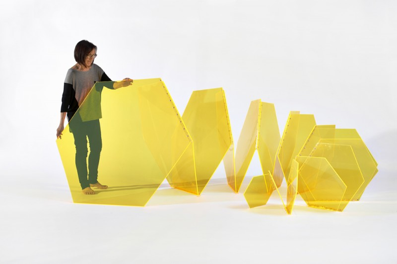 Marta Chilindron with Hexagon Spiral, 2013 - Marta Chilindron, Cecilia De Torres Ltd.