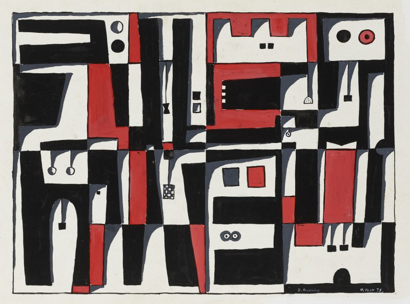 Forms in Red and Black - José Gurvich, Cecilia De Torres Ltd.
