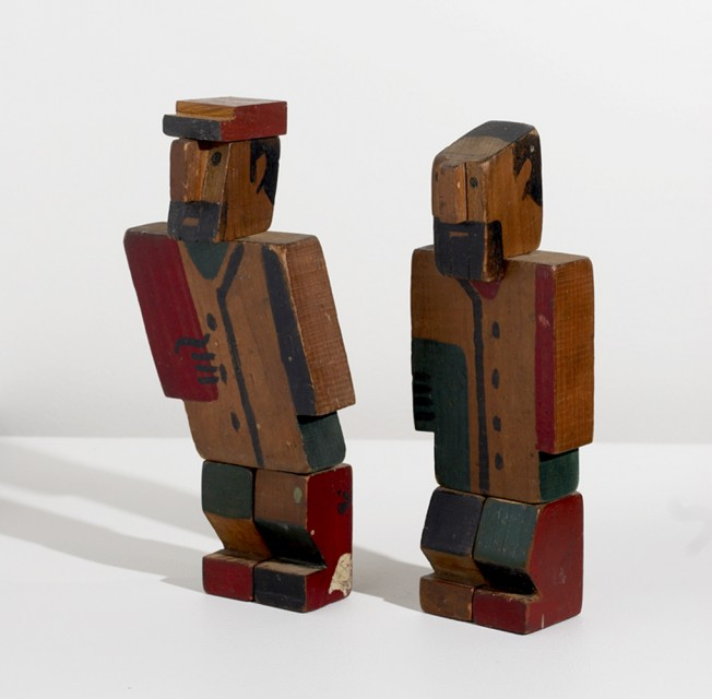 Two wooden men - Joaquín Torres-García, Cecilia De Torres Ltd.