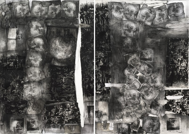 Untitled (Collage Diptych) - Catalina Chervin, Cecilia De Torres Ltd.