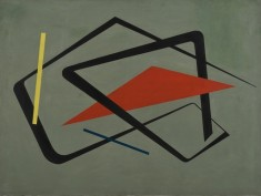 Untitled painting from 1954 by María Freire on view at MoMA.