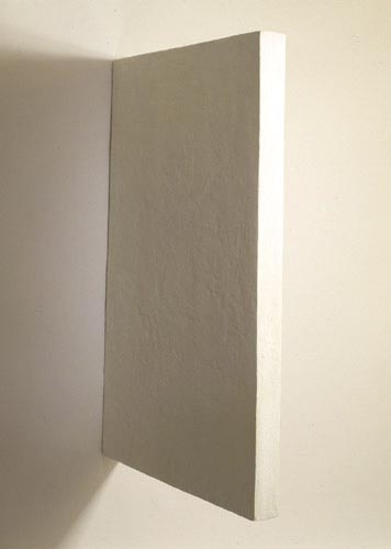 White Rectangle Painting - Eduardo Costa, Cecilia De Torres Ltd.