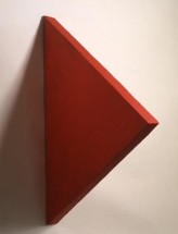 Red Triangle Painting - Eduardo Costa, Cecilia De Torres Ltd.