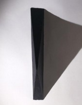 Black Medium Triangle Painting - Eduardo Costa, Cecilia De Torres Ltd.