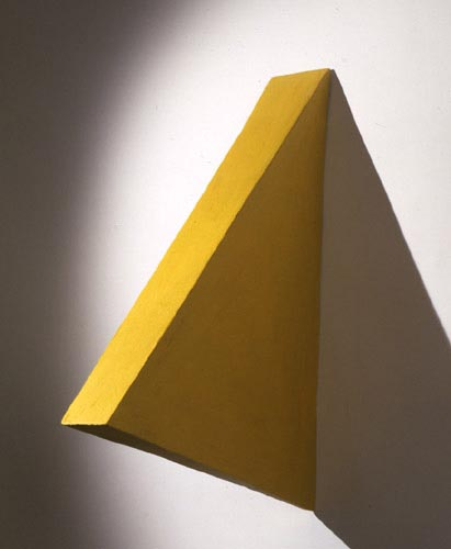Yellow Medium Triangle Painting - Eduardo Costa, Cecilia De Torres Ltd.