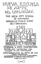 Torres-García's handwritten cover page for the New School of Uruguayan Art